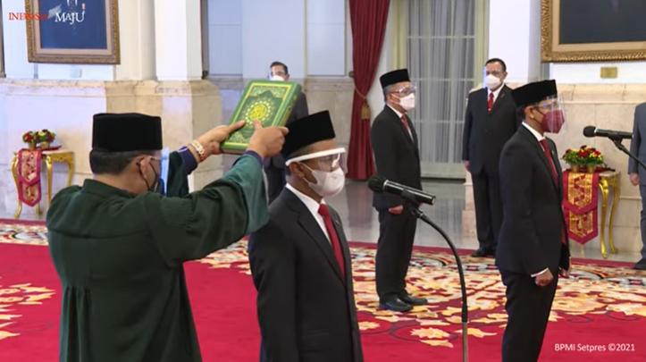 Presiden Jokowi Lantik Menteri Investasi/Kepala BKPM, Mendikbudristek, dan Kepala BRIN
