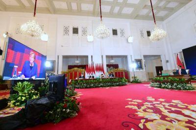 Presiden Jokowi dan Kanselir Jerman Angela Merkel Resmi Buka Hannover Messe 2021